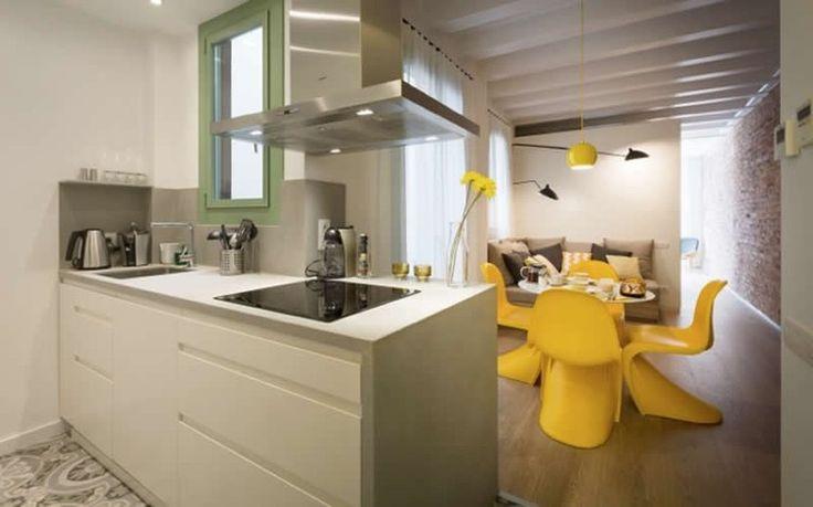 Un hogar en 48 m2 con alma amarilla