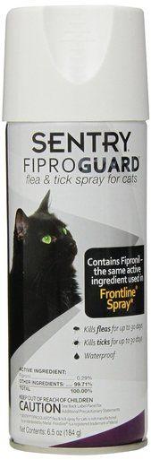 Sentry FiproGuard Kills Fleas and Tick Cat Aid Spray Waterproof Non-Aerosol 6.5 oz