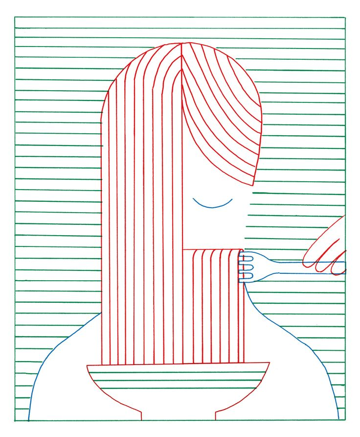 Paulette magazine, numéro spaghetti mars 2016 (dessin non retenu)