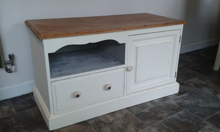 tv cabinet in french cream by everlong paint