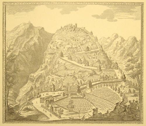 Sacro Monte, varese, Veduta del secolo XVIII