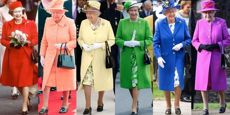 In Photos: Queen Elizabeth's Regal Rainbow Style  - HarpersBAZAAR.com