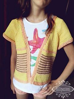 Miri's Striped Cardigan pattern by Follipassioni