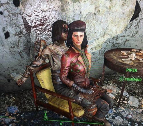 Dont you dare take my chair. This one is mine!  fallout fallout 4 fallout piper fallout 4 piper fallout 4 companions