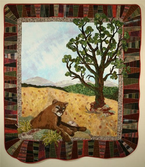 California Cougar and Oak by Ann Horton at the 2017 Mid-Atlantic Quilt Festival