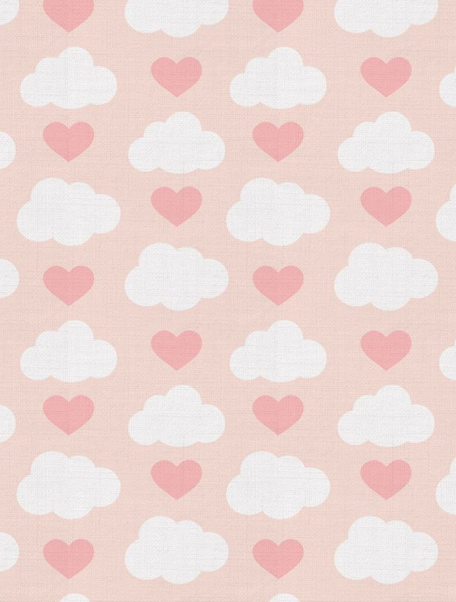 Loveclouds Designer Fabric by Aimée Wilder. Sold by the yard. This adorable cloud & heart children's pattern is perfect for upholstery, pillow, curtains and more! Materials: 100% Cotton Sailcloth, Fin