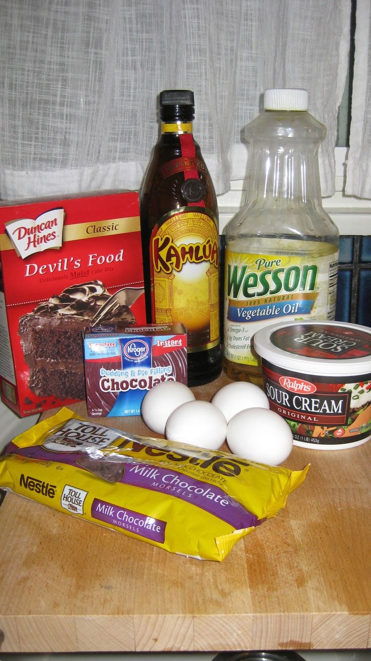 Chocolate Kahlua Cake. One of my all-time favorite cakes-I think I'll make this for my birthday! ;)