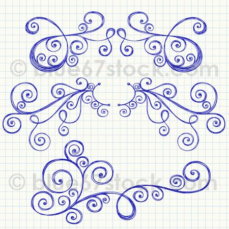 Hand-Drawn Sketchy Swirl Ornaments Vector Illustration by blue67 | Flickr - Photo Sharing!