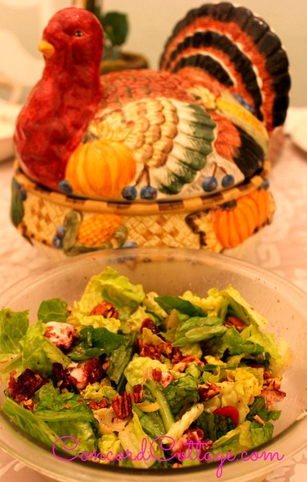 Here is a tasty Cranberry Goat Cheese & Pecan Salad that will be great ...