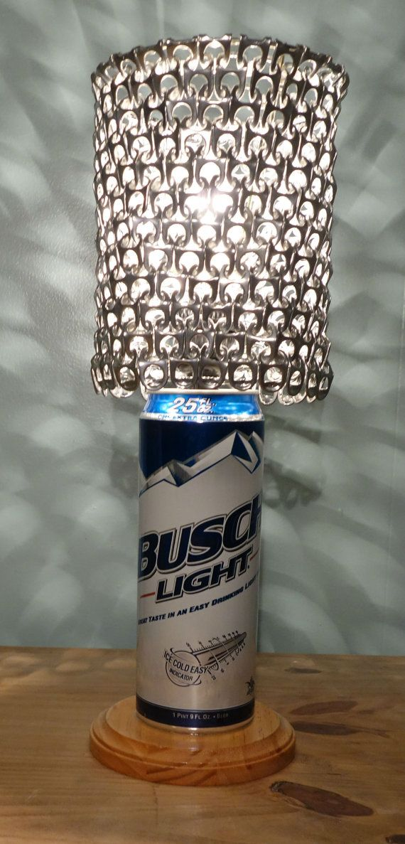 Giant 24 Oz Busch Light Beer Can Lamp With Pull Tab Lamp