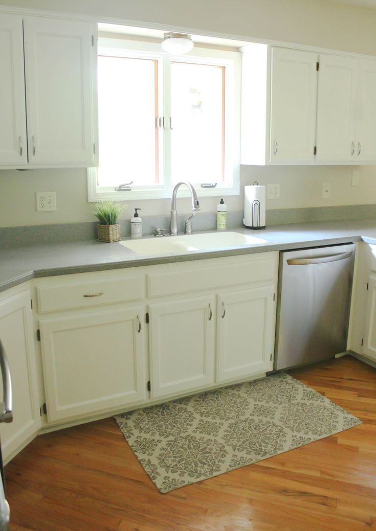 Chalk Painted Kitchen Cabinets: From Honey Oak to White ...