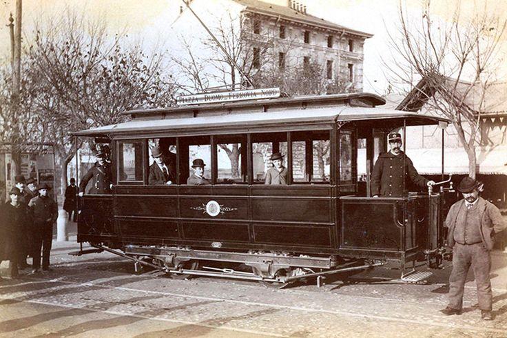 2 novembre 1893 - primo viaggio tram elettrico al termminus in piazza porta Sempione | da Milàn l'era inscì