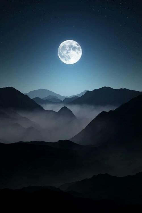 Guatemala Impresionante-Hermosa noche de Luna llena vista desde las tierras altas de los Cuchumatanes Huehuetenango, Guatemala