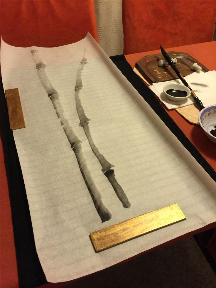 Iniciando la pintura: Bambúes