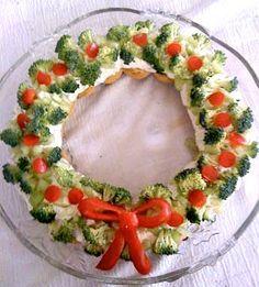 Ghirlanda di verdure come antipasto di Natale. #ricetta #veggie