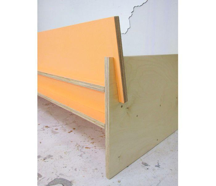 Waka Waka Painted Plywood Bench, Los Angeles | Remodelista