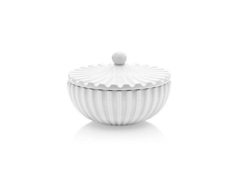 Bonbonniere i keramik, 10 cm i diameter