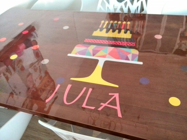Gemaakt met tafelzielpakket en letters uit de cricut