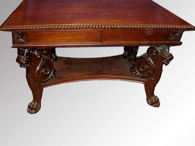 17501 Mahogany Carved Griffin Library Table Possibly R J  Horner   Maine  Antique Furniture. 35 best Antique Office Furniture images on Pinterest   Office