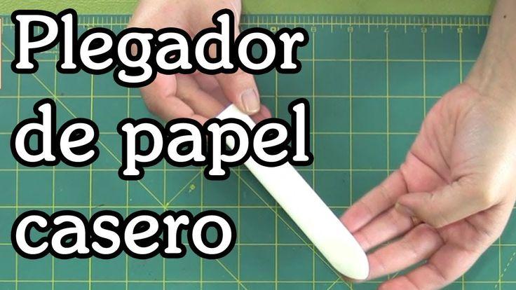 Plegador de papel casero
