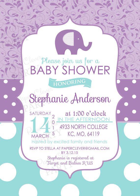 elephant baby showers girl baby