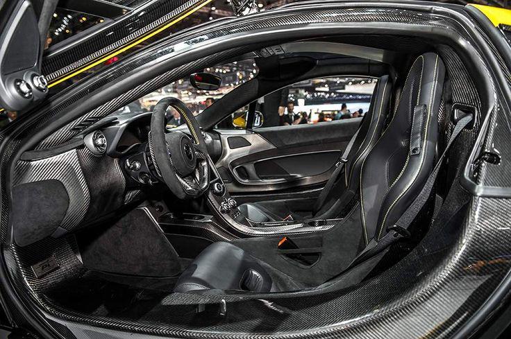 Interior of McLaren P1 at Geneva Moto Show. Jump in! #mcLaren #p1 #interior #geneva