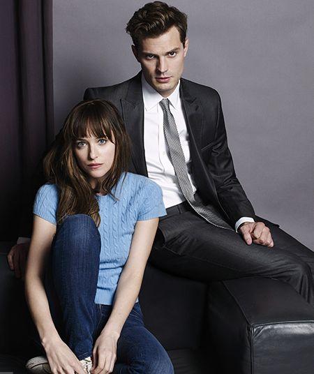 Christian Grey (Jamie Dornan) y Anastasia Steele (Dakota Johnson) - Fifty Shades Of Grey