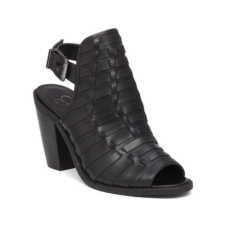Jessica Simpson Celinna Slingback Leather Shootie - Black