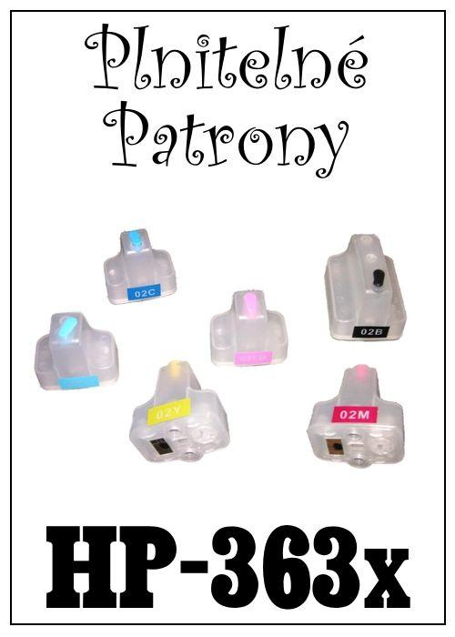 Inkoust do tiskárny  HP-363x za bezva cenu 180 Kč / 100 ml / 1 barva, plnitelné patrony za 460 Kč (sada 6 patron)