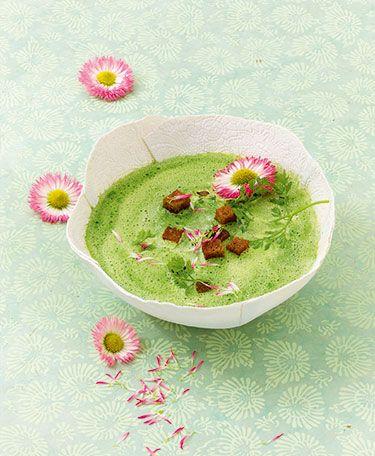 Leckere Neun-Kräuter-Suppe, die man ganz nach Lust und Laune mit Kräutern nach eigenen Geschmack - auch Wildkräuter - zaubern kann.