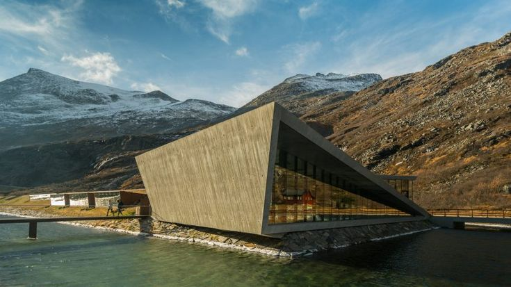 The Reiulf Ramstad-designed Trollstigen Visitor Centre in rural Norway, hidden in rugged mountains and deep fjords.