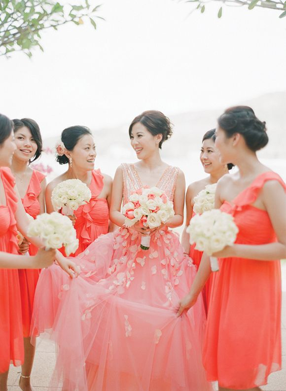 Coloured Wedding Dress Snippets, Whispers & Ribbons #66