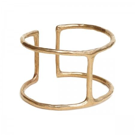 Open manchette cuff. Made in italy with bronze. Nickel Free.