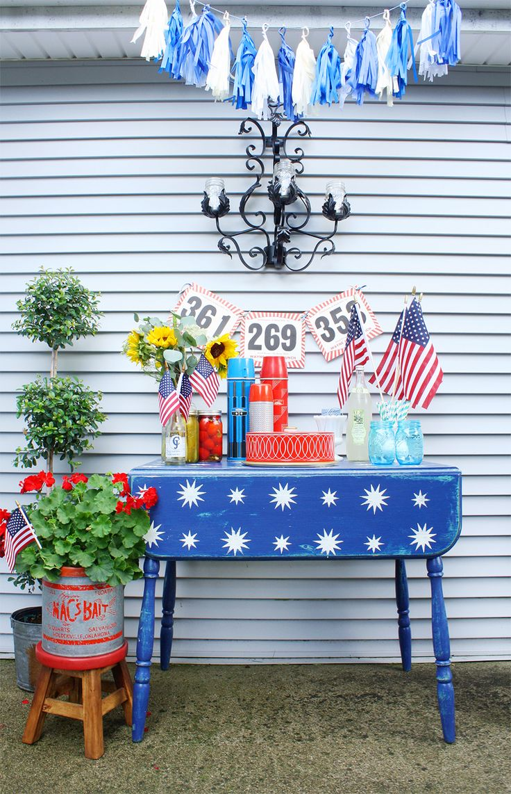 Emily brooks uncovers the bathroom basics that are vital to know - Patriotic Table Makeover Idea And Vintage Decor For Memorial Day And July 4 Celebration