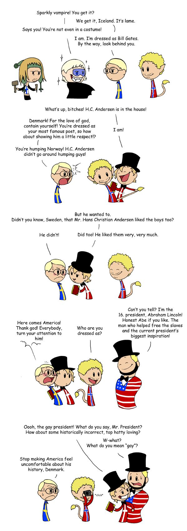 Costume Party - Scandinavia and the World. Poor America lol