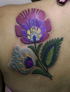 Polish folk art flower tattoo idea