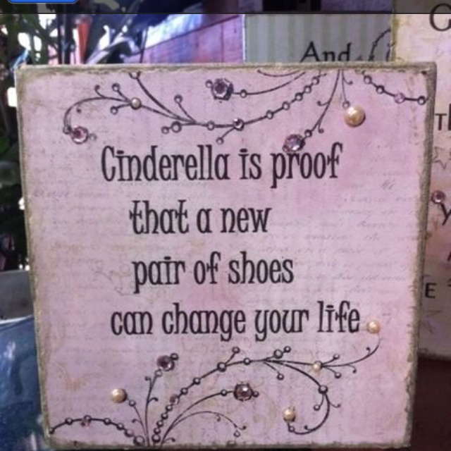 And I buy myself a new pair of shoes regularly....!