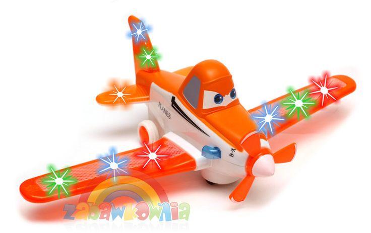 Samolot z napędem na baterie - jeździ odbijają się od przeszkód. Samolot cieszy dzieci