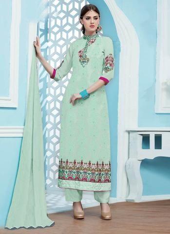 Green Georgette Salwar Kurta Online Shopping India ,Indian Dresses