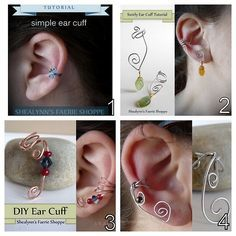 """""""DIY Wire Ear Cuffs from Basic to Advanced from Shealynn's Faerie Shoppe."""""""