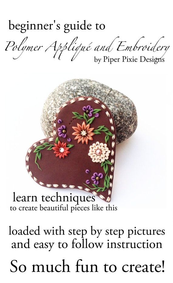 Polymer Clay Tutorial polymer Appliqué Tutorial by PiperPixieDesigns