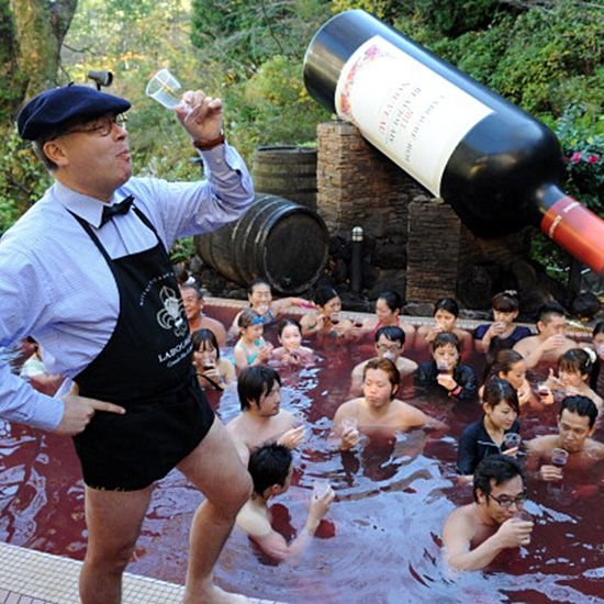 The Japanese Love Beaujolais Nouveau So Much They Bathe in It #FWx