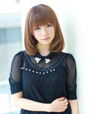 髪型・ヘアカタログ・ヘアアレンジ:ワンカールミディアムボブ/AFLOAT JAPAN[アフロートジャパン](銀座)の美容室情報|KamiMado(かみまど)