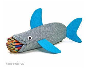 Pencil Case for Kids Shark Bag Boys Gift: Deep Sea by minnebites