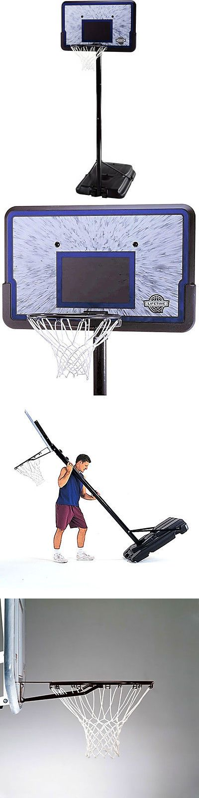 Backboard Systems 21196: New! Lifetime 44 Portable Basketball System Adjustable Hoop Backboard Net Pole -> BUY IT NOW ONLY: $113.09 on eBay!