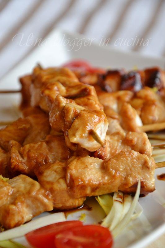 spiedini di pollo caramellati (2)