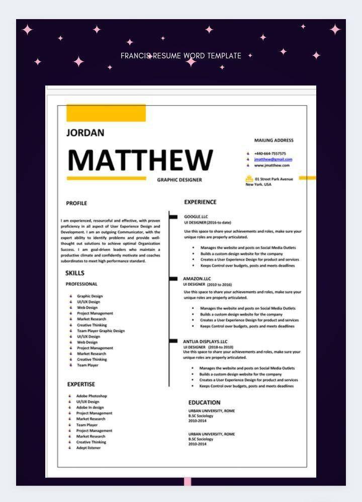 Cv Template Professional Resumeresume Templateresume Etsy Cv Template Professional Resume Updating Cv Template