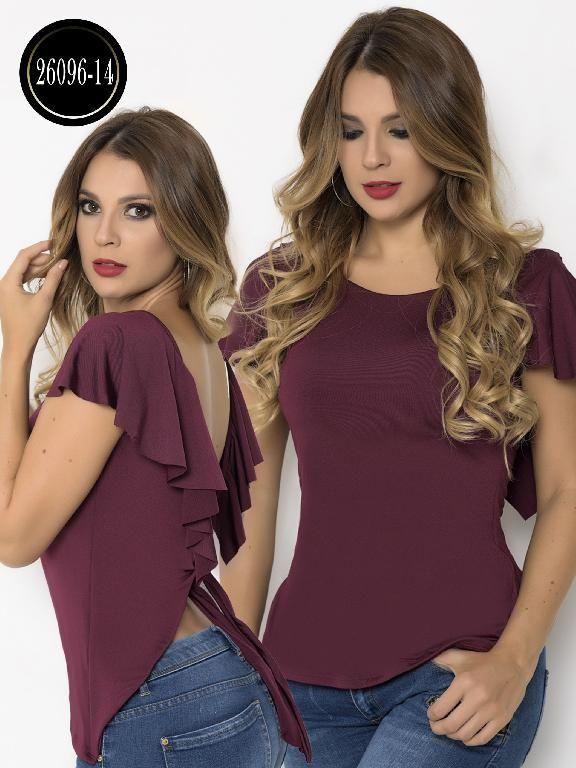 00dba8c28 Blusa Moda Colombiana Cereza - Ref. 111 -26096-14 Vinotinto Vestidos Sexys