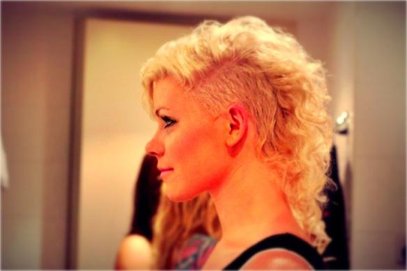 Shaved sides   Genevieve Warburton