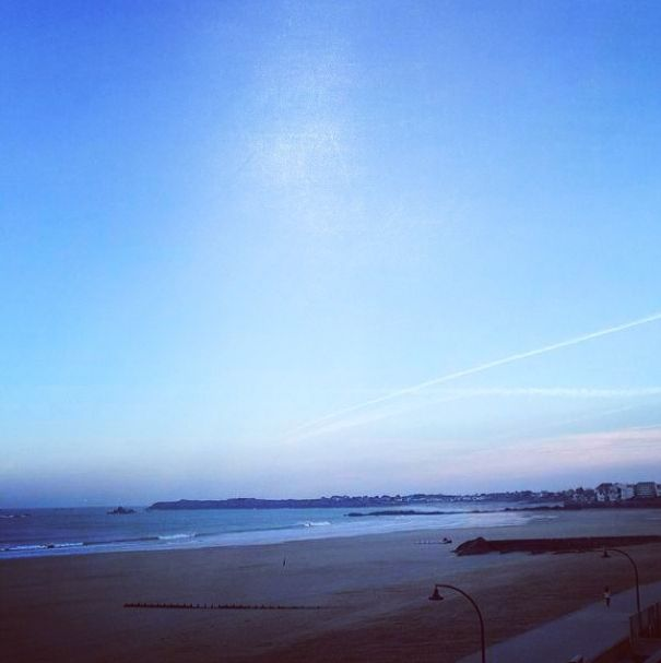 Saint-Malo #beach, in #France. #summer #sea #sky #instafine #finecollection #beautiful #picoftheday